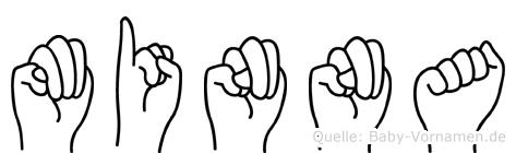 Minna in Fingersprache für Gehörlose