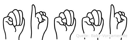 Minni in Fingersprache für Gehörlose
