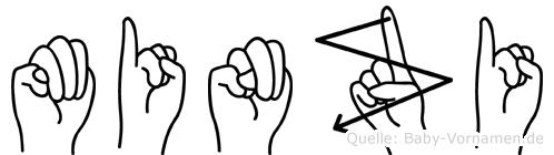 Minzi in Fingersprache für Gehörlose