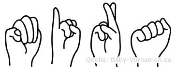 Mira in Fingersprache für Gehörlose
