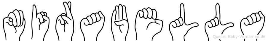 Mirabella im Fingeralphabet der Deutschen Gebärdensprache