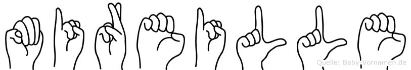 Mireille im Fingeralphabet der Deutschen Gebärdensprache
