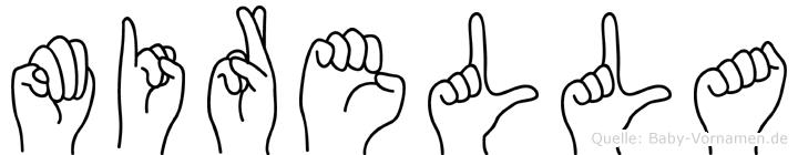 Mirella im Fingeralphabet der Deutschen Gebärdensprache