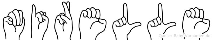 Mirelle im Fingeralphabet der Deutschen Gebärdensprache