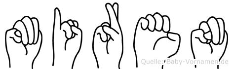 Miren im Fingeralphabet der Deutschen Gebärdensprache