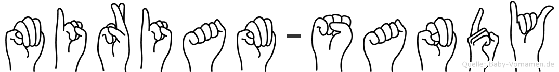 Miriam-Sandy im Fingeralphabet der Deutschen Gebärdensprache