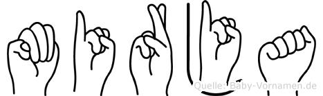Mirja im Fingeralphabet der Deutschen Gebärdensprache