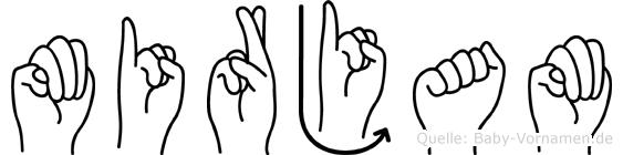 Mirjam im Fingeralphabet der Deutschen Gebärdensprache