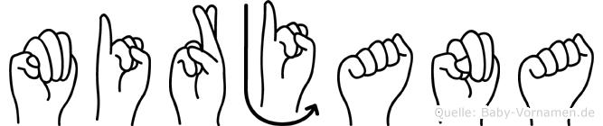 Mirjana in Fingersprache für Gehörlose