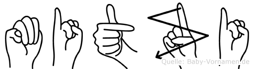 Mitzi in Fingersprache für Gehörlose