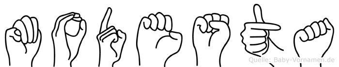 Modesta in Fingersprache für Gehörlose
