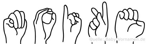 Moike in Fingersprache für Gehörlose