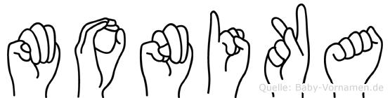Monika in Fingersprache für Gehörlose