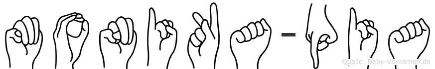 Monika-Pia im Fingeralphabet der Deutschen Gebärdensprache