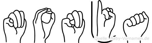 Monja im Fingeralphabet der Deutschen Gebärdensprache