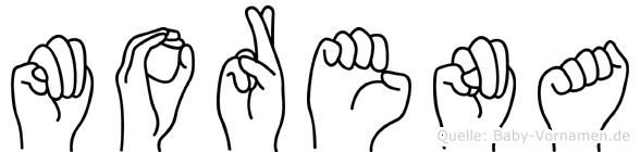Morena im Fingeralphabet der Deutschen Gebärdensprache