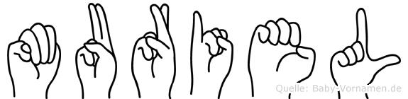 Muriel im Fingeralphabet der Deutschen Gebärdensprache