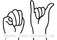 My im Fingeralphabet der Deutschen Gebärdensprache