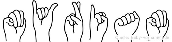 Myriam im Fingeralphabet der Deutschen Gebärdensprache