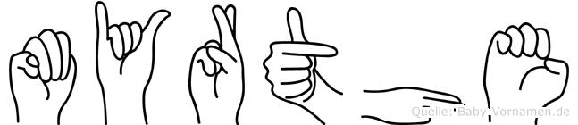 Myrthe in Fingersprache für Gehörlose