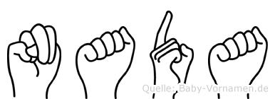 Nada im Fingeralphabet der Deutschen Gebärdensprache
