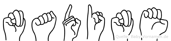 Nadine in Fingersprache für Gehörlose