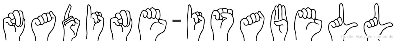 Nadine-Isabell im Fingeralphabet der Deutschen Gebärdensprache