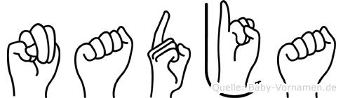 Nadja im Fingeralphabet der Deutschen Gebärdensprache