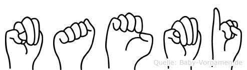 Naemi in Fingersprache für Gehörlose