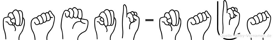 Naemi-Naja im Fingeralphabet der Deutschen Gebärdensprache