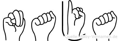Naja in Fingersprache für Gehörlose
