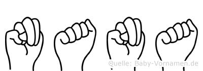 Nana in Fingersprache für Gehörlose