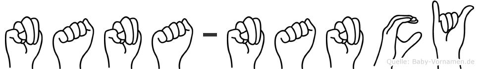 Nana-Nancy im Fingeralphabet der Deutschen Gebärdensprache