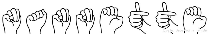 Nannette in Fingersprache für Gehörlose