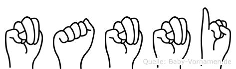 Nanni im Fingeralphabet der Deutschen Gebärdensprache