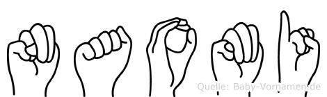 Naomi in Fingersprache für Gehörlose