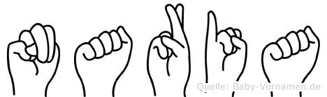 Naria im Fingeralphabet der Deutschen Gebärdensprache