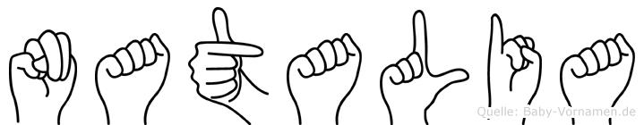 Natalia in Fingersprache für Gehörlose
