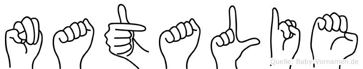 Natalie in Fingersprache für Gehörlose