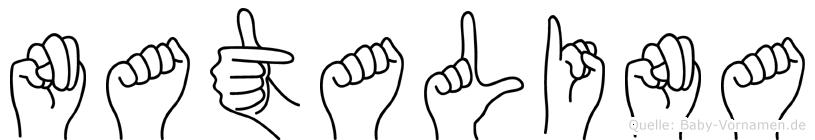 Natalina in Fingersprache für Gehörlose