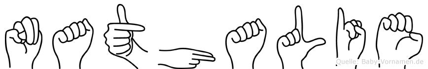Nathalie in Fingersprache für Gehörlose
