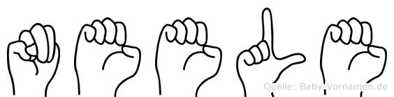 Neele im Fingeralphabet der Deutschen Gebärdensprache