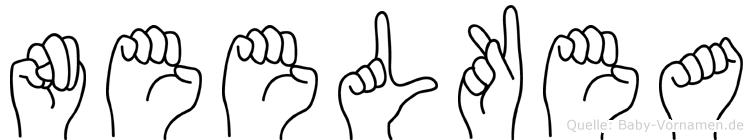 Neelkea im Fingeralphabet der Deutschen Gebärdensprache