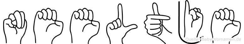Neeltje im Fingeralphabet der Deutschen Gebärdensprache
