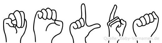 Nelda im Fingeralphabet der Deutschen Gebärdensprache