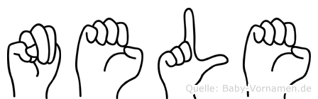 Nele im Fingeralphabet der Deutschen Gebärdensprache