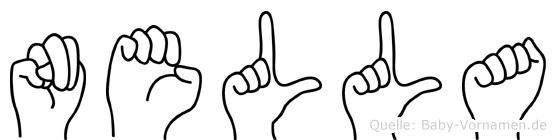 Nella in Fingersprache für Gehörlose