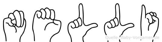 Nelli im Fingeralphabet der Deutschen Gebärdensprache