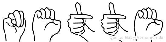 Nette im Fingeralphabet der Deutschen Gebärdensprache