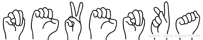 Nevenka im Fingeralphabet der Deutschen Gebärdensprache
